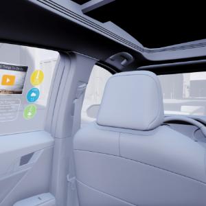 科思创光聚合物薄膜,用于汽车全息透明显示器